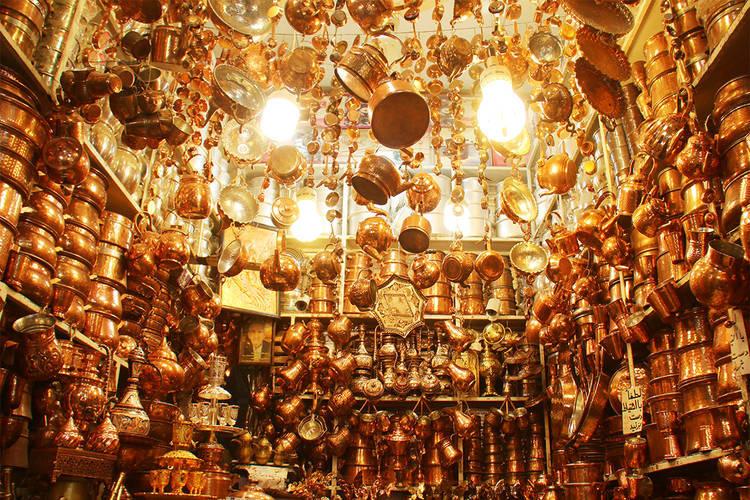 عکس بازار مسگرها شیراز
